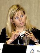 Elizabeth Cheney, Deputy Assistant Secretary of State for Near Eastern Affairs, participates in a Distinguished Speakers and Panel Discussion Program at the U.S. State Department in Washington, DC on May 22, 2003.  Cheney appeared as part of the Secretary's Open Forum program.  The discussion concerned Women's Rights around the World.  Ms. Cheney is the daughter of U.S. Vice President Dick Cheney and Lynne Cheney.<br /> Credit: Ron Sachs / CNP<br /> (RESTRICTION: NO New York or New Jersey Newspapers or newspapers within a 75 mile radius of New York City)