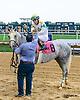 Lady Haha winning The Delaware Park Arabian Oaks (grade II) at Delaware Park on 8/6/16