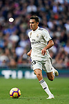 Sergio Reguilon Rodriguez of Real Madrid in action during the La Liga 2018-19 match between Real Madrid and Real Valladolid at Estadio Santiago Bernabeu on November 03 2018 in Madrid, Spain. Photo by Diego Souto / Power Sport Images