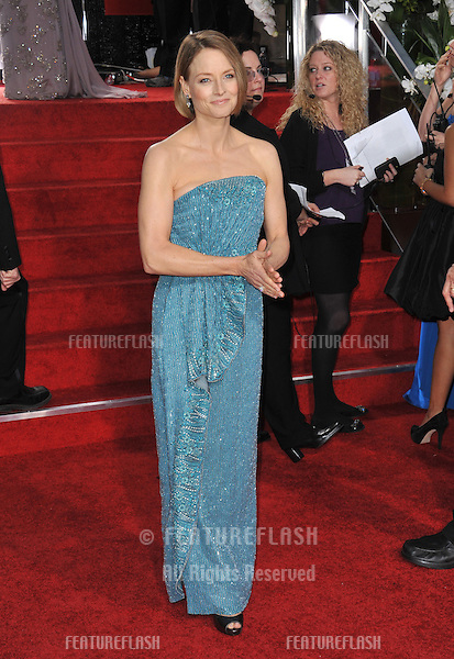 Jodie Foster at the 69th Golden Globe Awards at the Beverly Hilton Hotel..January 15, 2012  Beverly Hills, CA.Picture: Paul Smith / Featureflash