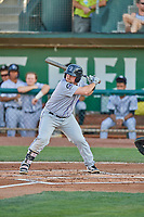 Colin Simpson (44) of the Grand Junction Rockies at bat against the Ogden Raptors at Lindquist Field on August 28, 2019 in Ogden, Utah. The Rockies defeated the Raptors 8-5. (Stephen Smith/Four Seam Images)