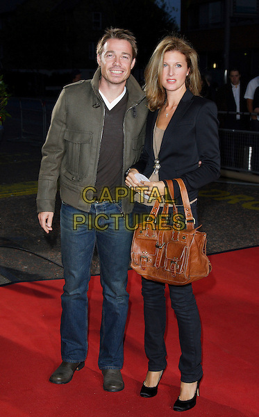 "GRAEME LE SAUX & GUEST.Celebrity Guests attend ""Another Audience with Al Murray - Pub Landlord"" at London ITV Studios, South Bank, London, England, October 21st 2007..full length  brown bag jeans green jacket grahame.CAP/ROS.©Steve Ross/Capital Pictures"