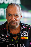 Oct 15, 2016; Ennis, TX, USA; NHRA funny car sponsor John Paul DeJoria during qualifying for the Fall Nationals at Texas Motorplex. Mandatory Credit: Mark J. Rebilas-USA TODAY Sports