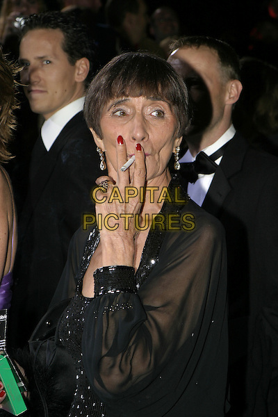 JUNE BROWN.National Television Awards, Royal Albert Hall..October 26th, 2004.headshot, portrait, cigarette, smoking, gesture.www.capitalpictures.com.sales@capitalpictures.com.© Capital Pictures.