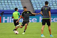 Edson Alvarez (Mexiko, Mexico) ist als einer von zwei Perspektivspielern mit der mexikanischen Mannschaft in Russland beim Confed Cup - 20.06.2017: Abschlusstraining der Nationalmannschaft Mexiko, Fisht Stadium Sotschi