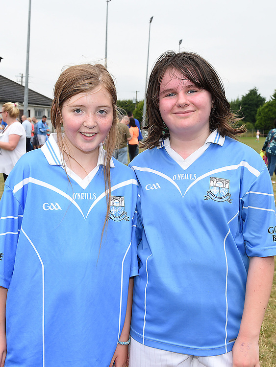 Grace Sheerin and Megan Reid at the Newtown Blues GAA Juvenile Triathlon Fundraiser.  Photo:Colin Bell/pressphotos.ie