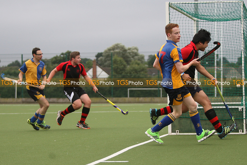 Ben Dance opens the scoring for Upminster Havering HC 2nd XI vs Upminster HC 3rd XI, East Region League Field Hockey at Campion School on 17th September 2016