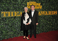 Glenn Close and Lord Andrew Lloyd Webber at the London Evening Standard Theatre Awards 2016, The Old Vic, The Cut, London, England, UK, on Sunday 13 November 2016. <br /> CAP/CAN<br /> &copy;CAN/Capital Pictures /MediaPunch ***NORTH AND SOUTH AMERICAS ONLY***