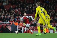 Jack Wilshere of Arsenal on the ball during the UEFA Europa League match between Arsenal and FC BATE Borisov  at the Emirates Stadium, London, England on 7 December 2017. Photo by David Horn.