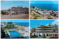 A postcard of the Grand Hotel from the 1960s. Once a luxury destination for the wealthy and the continent's biggest hotel, the building is now a concrete shell and home to about 6,000 squatters. Those unable to occupy one of the rooms sleep in the corridors, basements and even on the roof of the building.