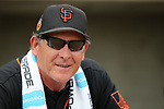 San Francisco Giants' Coach Dave Righetti works the sidelines of a spring training game against the Milwaukee Brewers in Phoenix, AZ, on Thursday, March 23, 2017.<br />Photo by Cathleen Allison/Nevada Photo Source
