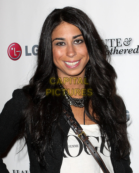 COURTENAY SEMEL.Alloy TV brings you The launch of Haute and Bothered Season 2 held At The Thompson Hotel Rooftop, Beverly Hills, California, USA..May 10th, 2010.half length black white jacket top .CAP/ADM/KB.©Kevan Brooks/AdMedia/Capital Pictures.