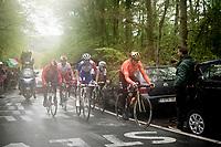 Greg Van Avermaet (BEL/CCC) up the last (categorised) climb of the day; the Côte de la Roche-aux-Faucons<br /> <br /> 105th Liège-Bastogne-Liège 2019 (1.UWT)<br /> One day race from Liège to Liège (256km)<br /> <br /> ©kramon