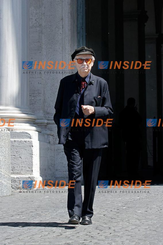 Vittorio Taviani.Roma 03/04/2012 Cerimonia di presentazione dei David di Donatello 2012 al Quirinale.Foto Serena Cremaschi Insidefoto