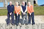 CAPTAINS & PRESIDENTS: Capts and presidents of Ballyheigue Golf Club in trainging berfore the Capts drive in on Sunday in Ballyheigue Golf Club, l-r: Ber Hehir Eilish Delaney Dalton (presidents), Jerry Horan and June Hayes (Capts).................................. ....
