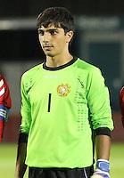 Gevorg Harutyunyan in the Scotland v Armenia UEFA European Under-19 Championship Qualifying Round match at New Douglas Park, Hamilton on 9.10.12.
