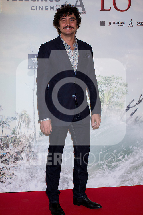 08.10.2012. Celebrities attend the premiere of Kinepolis Cinema in Madrid of the movie 'The Impossible'. Directed by Juan Antonio Bayona and starring by  Naomi Watts and Tom Holland. In the image Jose Manuel Seda (Alterphotos/Marta Gonzalez)