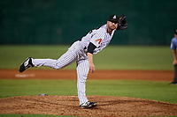 Jackson Generals pitcher Damien Magnifico (48) during a Southern League game against the Mississippi Braves on July 23, 2019 at The Ballpark at Jackson in Jackson, Tennessee.  Mississippi defeated Jackson 1-0 in the second game of a doubleheader.  (Mike Janes/Four Seam Images)