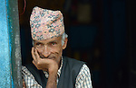 A man in Majhitar, a village in the Dhading District of Nepal.