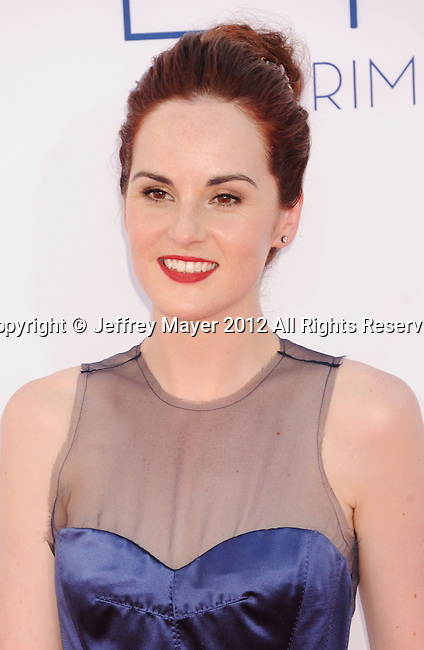 LOS ANGELES, CA - SEPTEMBER 23: Michelle Dockery arrives at the 64th Primetime Emmy Awards at Nokia Theatre L.A. Live on September 23, 2012 in Los Angeles, California.