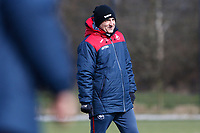 Swansea City manager Carlos Carvalhal observes his players train during the Swansea City Training at The Fairwood Training Ground, Swansea, Wales, UK. Wednesday 07 March 2018