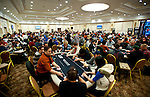 The tournament room on Day 2 of the Main Event.
