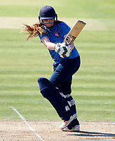Lottie Bryan bats for Kent during the Women's Royal London County Championship game between Kent ladies and Lancashire ladies at the County Ground, Beckenham, on May 7, 2018
