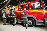 This is a few of the firemen from blue watch at Falmouth Firestation