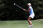 16 October 2016: UNC's Bryana Nguyen reacts to a missed putt. The Final Round of the 2016 Ruth's Chris Tar Heel Invitational NCAA Women's Golf Tournament hosted by the University of North Carolina Tar Heels was held at the UNC Finley Golf Club in Chapel Hill, North Carolina.