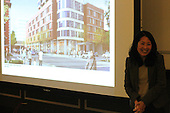 Representatives from MAC Properties held a public meeting Tuesday evening to discuss a proposed new development at the corner of 53rd and Hyde Park Blvd.<br /> <br /> 8838, 8843, 8847 &ndash; Architect, My-Nga Lam speaks with the public about how she developed the proposed project.<br /> <br /> Please 'Like' &quot;Spencer Bibbs Photography&quot; on Facebook.<br /> <br /> All rights to this photo are owned by Spencer Bibbs of Spencer Bibbs Photography and may only be used in any way shape or form, whole or in part with written permission by the owner of the photo, Spencer Bibbs.<br /> <br /> For all of your photography needs, please contact Spencer Bibbs at 773-895-4744. I can also be reached in the following ways:<br /> <br /> Website &ndash; www.spbdigitalconcepts.photoshelter.com<br /> <br /> Text - Text &ldquo;Spencer Bibbs&rdquo; to 72727<br /> <br /> Email &ndash; spencerbibbsphotography@yahoo.com
