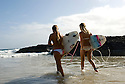 Girls going for a surf at Coolangata' in Surfers Paridise.