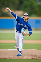 GCL Blue Jays starting pitcher Kendall Williams (11) during a Gulf Coast League game against the GCL Tigers West on August 3, 2019 at the Englebert Complex in Dunedin, Florida.  GCL Blue Jays defeated the GCL Tigers West 4-3.  (Mike Janes/Four Seam Images)