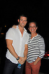 Days of Our Lives Eric Martsolf poses with Young and Restless Christian LeBlanc at SoapFest's Celebrity Weekend -  A Night of Stars - a VIP event with dinner, autographs, photos, silent and live auction on November 10, 2012 at Bistro Soleil at Old Historic Marco Inn (Photo by Sue Coflin/Max Photos)
