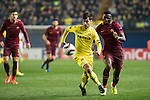 Manuel Trigueros Muñoz of Villarreal CF with Antonio Rüdiger of AS Roma during the match Villarreal CF vs AS Roma, part of the UEFA Europa League 2016-17 Round of 32 at the Estadio de la Cerámica on 16 February 2017 in Villarreal, Spain. Photo by Maria Jose Segovia Carmona / Power Sport Images