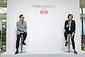 (L to R) Uniqlo Creative Director Naoki Takizawa and fashion designer Ines de la Fressange, speak during a media event for Uniqlo x Ines de La Fressange AW17 collection, on September 5, 2017, Tokyo, Japan. Japanese casual clothing chain Uniqlo and French fashion icon Ines de la Fressange are collaborating with a Fall/Winter 2017 collection which is being sold in selected Uniqlo stores from September 1st. (Photo by Rodrigo Reyes Marin/AFLO)