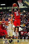 12 December 2010: Marist College Red Foxes' guard/forward Anell Alexis, a Redshirt Freshman from Hillsborough, NJ, in action against the University of Vermont Catamounts at Patrick Gymnasium in Burlington, Vermont. The Catamounts (7-2) defeated the Red Foxes 75-67 notching their 7th win of the season, and their best start since the '63-'64 season. Mandatory Credit: Ed Wolfstein Photo