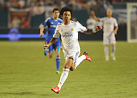 07.08.2013.Miami, Florida, USA.  Marcelo Vieira (12)   during the second half of the  the final of the Guinness International Champions Cup between Real madrid and Chelsea. The game was won by a score of 3-1 by Real Madrid with Ronaldo scoring a brace.
