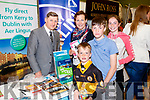 Noel Ryan (Kerry Airport) with Brenda, Ben and Cillian and Emer Litchfield, Tralee, pictured at the Kerry Airport Stand at Tralee Enterprise Town Community, Sport and Business Expo at Tralee Sports Complex on Saturday morning last.