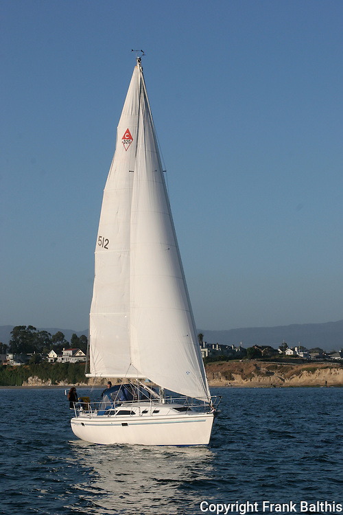 Sailing near Santa Cruz, CA