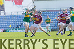 In Action Westmeath's Liam Varley and Kerry's Adrian Royle at Kerry v Westmeath at Austin Stack Park on Sunday