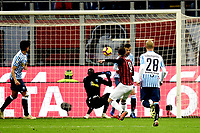Gonzalo Higuain of AC Milan scores second goal for his side during the Serie A 2018/2019 football match between AC Milan and SPAL at stadio Giuseppe Meazza in San Siro, Milano, December 29, 2018 <br /> Foto Image Sport / Insidefoto