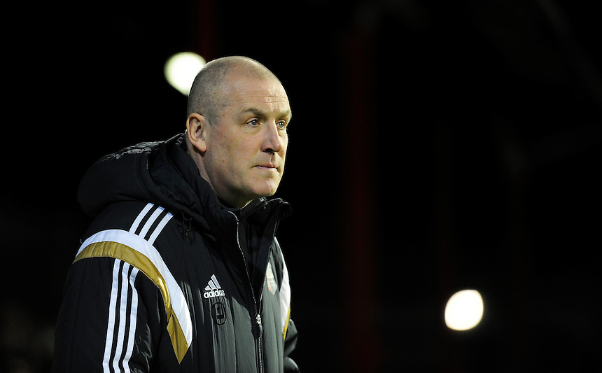 Brentford manager Mark Warburton <br /> <br /> Photographer Ashley Western/CameraSport<br /> <br /> Football - The Football League Sky Bet League One - Brentford v Blackpool - Tuesday 24th February 2015 - Griffin Park - London<br /> <br /> &copy; CameraSport - 43 Linden Ave. Countesthorpe. Leicester. England. LE8 5PG - Tel: +44 (0) 116 277 4147 - admin@camerasport.com - www.camerasport.com