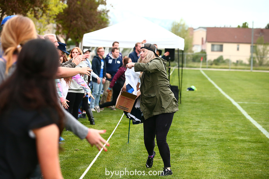 16mSOC Blue and White 354<br /> <br /> 16mSOC Blue and White<br /> <br /> May 6, 2016<br /> <br /> Photography by Aaron Cornia/BYU<br /> <br /> Copyright BYU Photo 2016<br /> All Rights Reserved<br /> photo@byu.edu  <br /> (801)422-7322