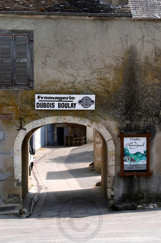 Goat cheese farm. Crottin de Chavignol. Chavignol, Sancerre, Loire, France