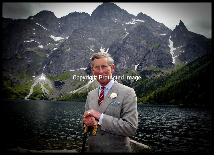 HRH The Prince of Wales during a walk at   Tatras National Park as he walks around the lake Morskie Oko  on the final stage of his tour of Poland ,Thursday 13th June 2002 P/A Photo Andrew Parsons .Pool