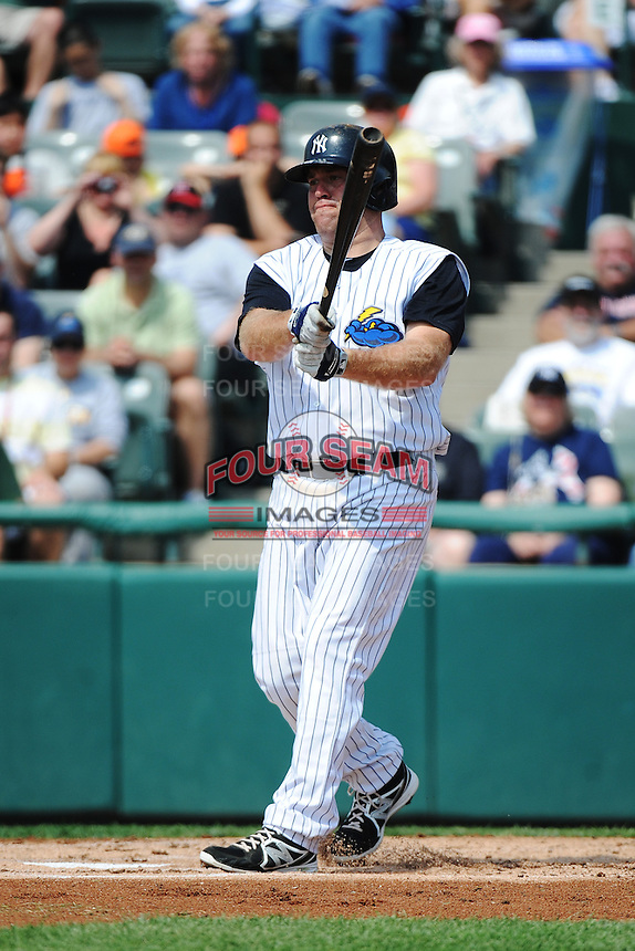 Trenton Thunder infielder Kevin Youkillis (36) during game against the Erie SeaWolves at ARM & HAMMER Park on May 29 2013 in Trenton, NJ.  Trenton defeated Erie 3-1.  Tomasso DeRosa/Four Seam Images