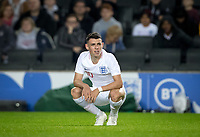 Phil Foden (Manchester City) of England U21 during the UEFA Euro U21 International qualifier match between England U21 and Austria U21 at Stadium MK, Milton Keynes, England on 15 October 2019. Photo by Andy Rowland.