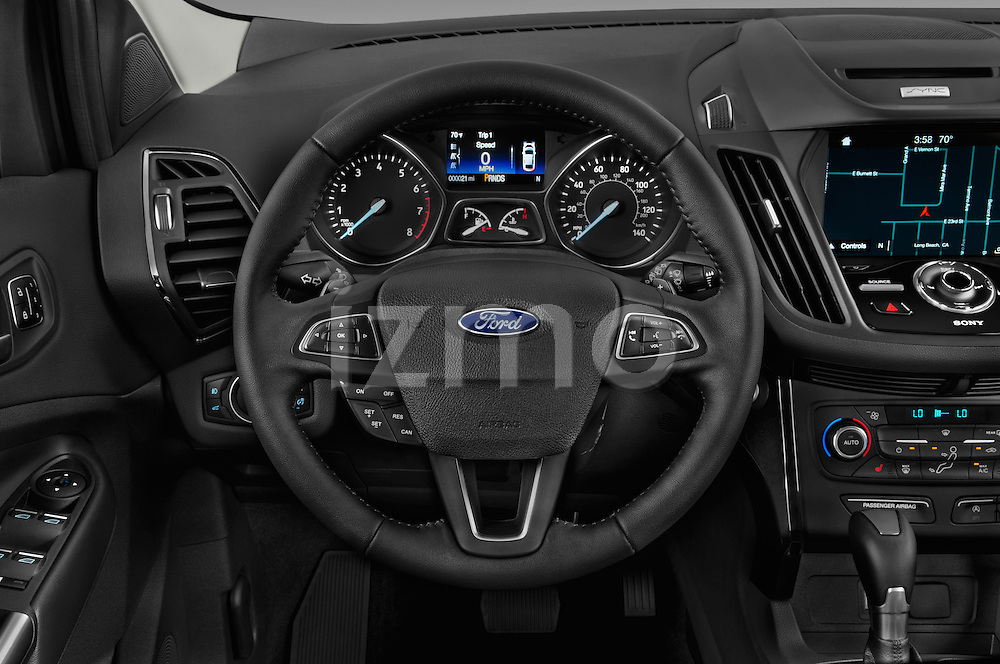 Car pictures of steering wheel view of a 2017 Ford Escape Titanium 5 Door Suv Steering Wheel
