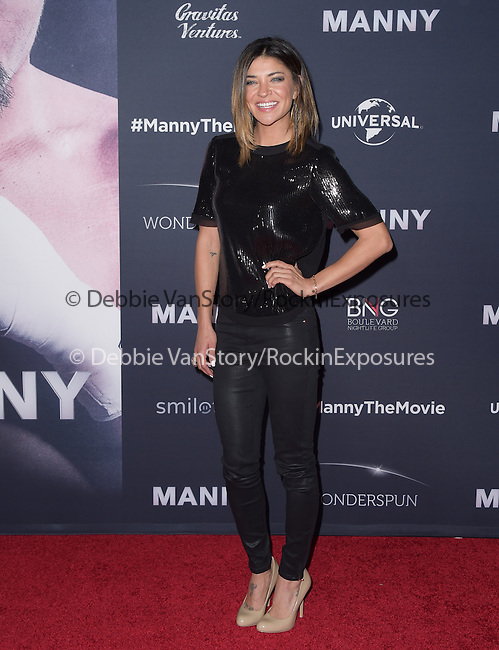 Jessica Szohr attends The Los Angeles premiere of<br /> MANNY at The TCL Chinese Theater  in Hollywood, California on January 20,2015                                                                               © 2015 Hollywood Press Agency