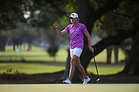 Stacy Lewis (USA) sinks her putt on 1 during round 1 of the 2019 US Women's Open, Charleston Country Club, Charleston, South Carolina,  USA. 5/30/2019.<br /> Picture: Golffile | Ken Murray<br /> <br /> All photo usage must carry mandatory copyright credit (© Golffile | Ken Murray)